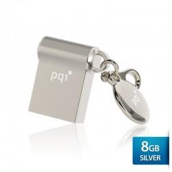 Pqi i-Mini II U838L Flashdisk USB 2.0 Waterproof & Shockproof - 8GB Mac Silver