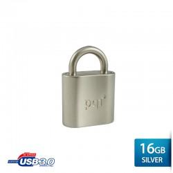 Pqi i-Lock Flashdisk USB 3.0 COB - 16GB Mac Silver