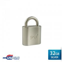 Pqi i-Lock Flashdisk USB 3.0 COB - 32GB Mac Silver