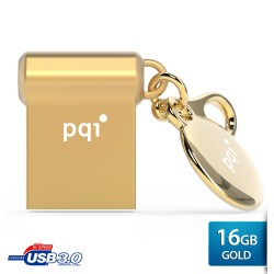 Pqi i-mini II U838V Flashdisk USB 3.0 COB - 16GB Gold
