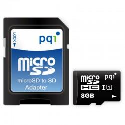 PQI Micro SDHC UHS-1 Class 10 Kartu Memori 8GB + Adapter