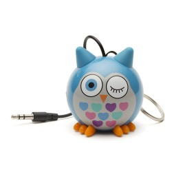 OptimuZ Mini Buddy Portable Speaker Character - Owl Blue