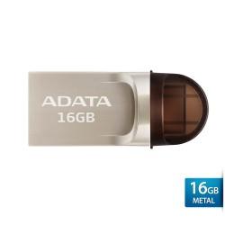 ADATA UC370 - Flashdisk USB OTG Type-C + Type-A - 16GB Silver