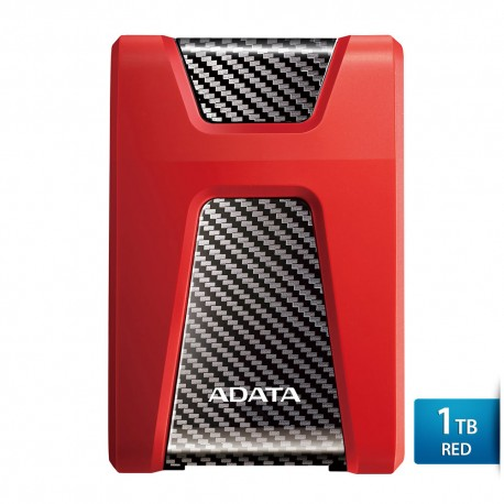 ADATA H650 - 1TB Merah - Hard Disk Eksternal USB3.0 Anti-Shock