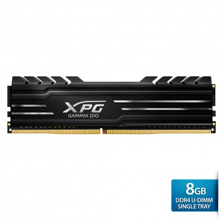 ADATA XPG Gammix D10 DDR4 U-DIMM 2400 Single Tray - 8GB Hitam