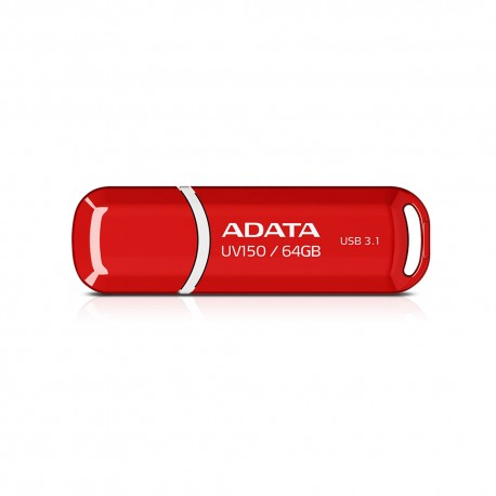 ADATA DashDrives UV150 - Flashdisk USB 3.1 SuperSpeed - 64GB Merah