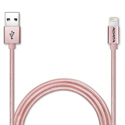 ADATA Kabel Data & Charge Lightning Apple MFI Aluminium 100cm - Rose Gold