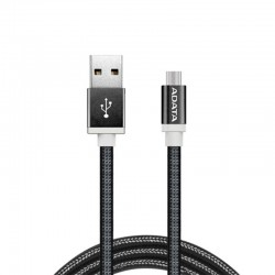 ADATA Kabel Data & Charge Micro USB Aluminium 100cm - Hitam