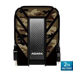 ADATA HD710M Pro Military - 2TB Camouflage - Hard Disk Eksternal USB3.1 Anti-Shock & Waterproof
