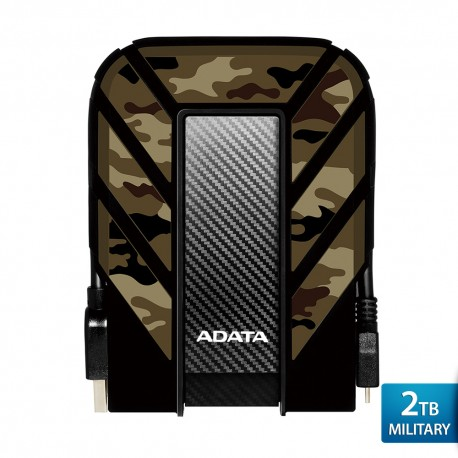 ADATA HD710M Pro Military - 2TB Camouflage - Hard Disk Eksternal USB3.1 Anti-Shock & Waterproof