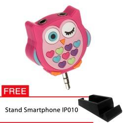 PROMO! My Doodles Splitter Owl FREE Stand IP010 untuk Smartphone