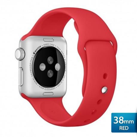 OptimuZ Premium Sport Silica Watch Band Strap for Apple Watch - 38mm Red