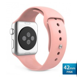 OptimuZ Premium Sport Silica Watch Band Strap for Apple Watch - 42mm Pink
