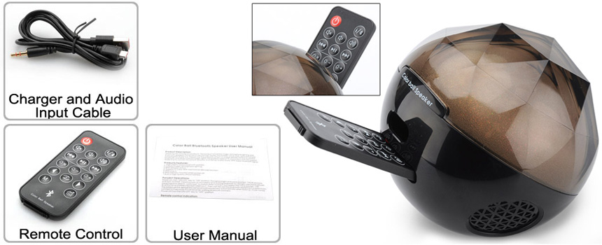 Speaker Color Ball hadir dilengkapi dengan remote control, sehingga kamu dapat menghidupkan dan mematikan speaker, mengubah dari bluetooth ke aux, ...