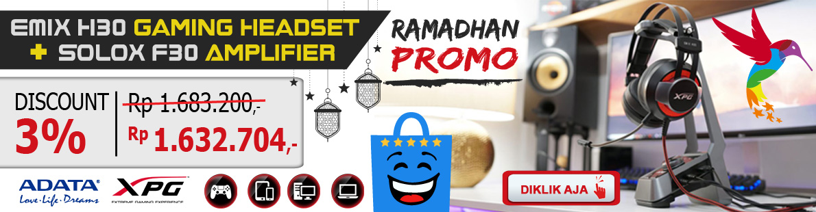 Ramadhan Sale DiKlikAja ADATA XPG Headset Gaming H30