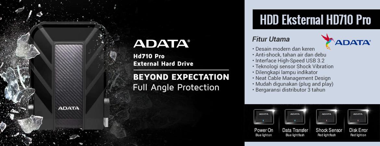 ADATA HD710 Pro Hard Disk Eksternal USB3.2 – 5TB Black