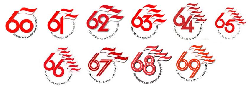 Logo HUT RI dari 60 sampai 69 tahun