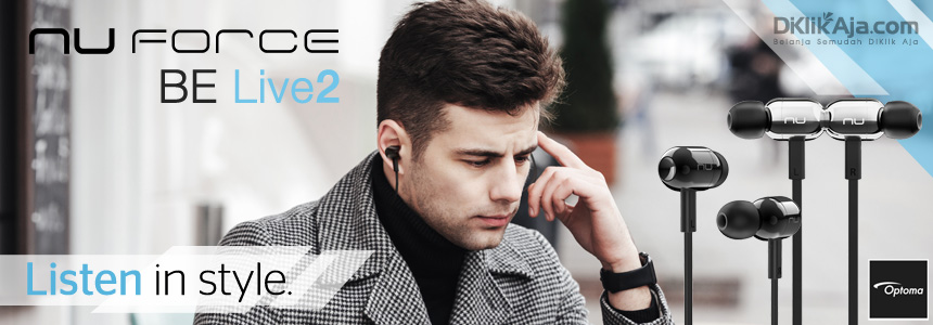 Desain Stylist dan Nyaman Headset Earphone Optoma NuForce BE Live 2