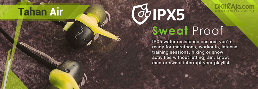 IPX5 Tahan Air
