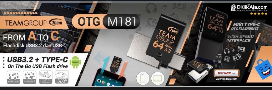 TEAM GROUP M181 - Flashdisk OTG USB Tipe-C dan USB 3.2