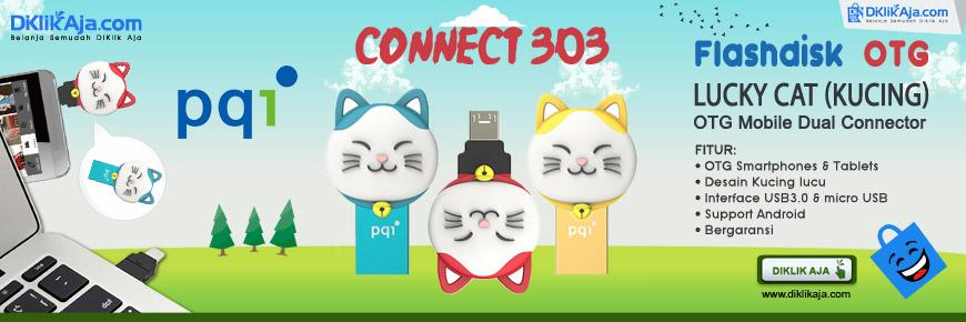 PQI Connect 303 Lucky Cat - Flashdisk OTG microUSB dan USB 3.0