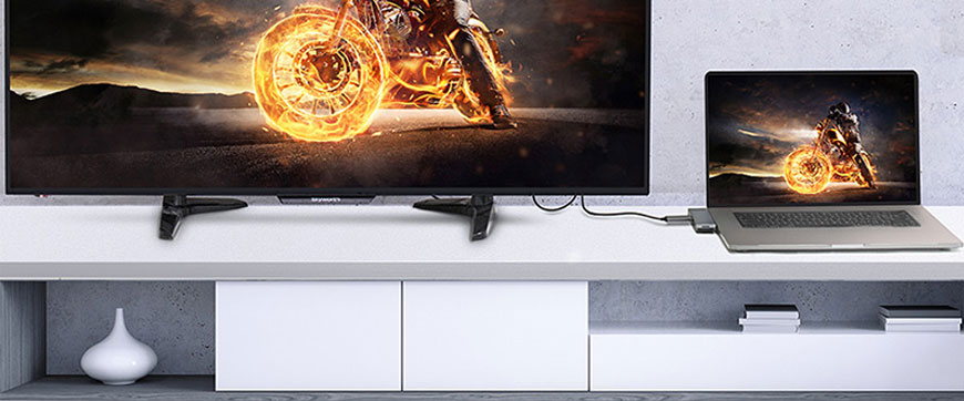 Mampu menjadi konektor penghubung video 4K