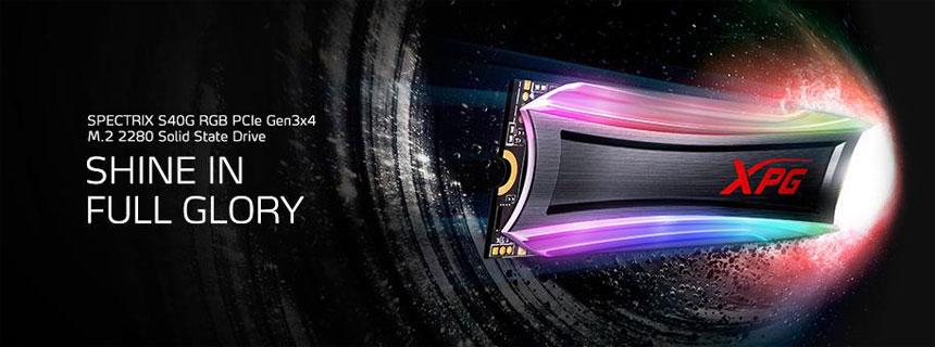 ADATA XPG SPECTRIX S40G RGB SSD PCIe Gen3x4 M.2 2280