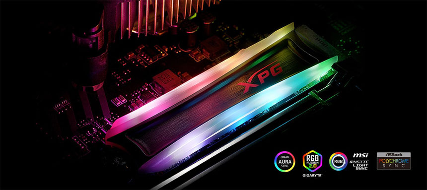 XPG SPECTRIX S40G RGB Lighting