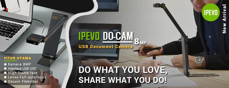 IPEVO DO-CAM USB Document Camera Creator's Edition & Webcam – Grey/Yellow