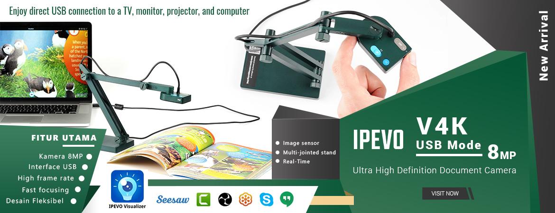 IPEVO V4K Ultra High Definition USB Document Camera - Green