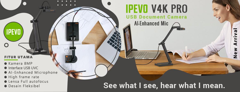 V4K PRO UHD USB Kamera Dokumen dengan AI-Enhanced Mic