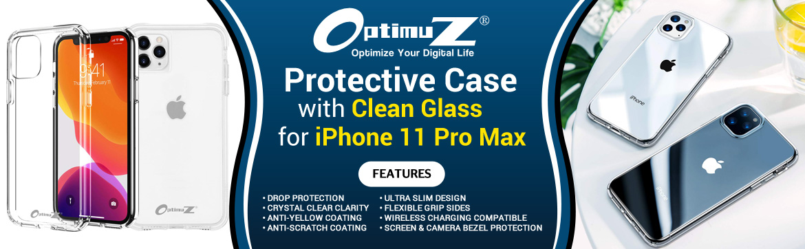 Case iPhone 11 PRO MAX Clean Glass Banner