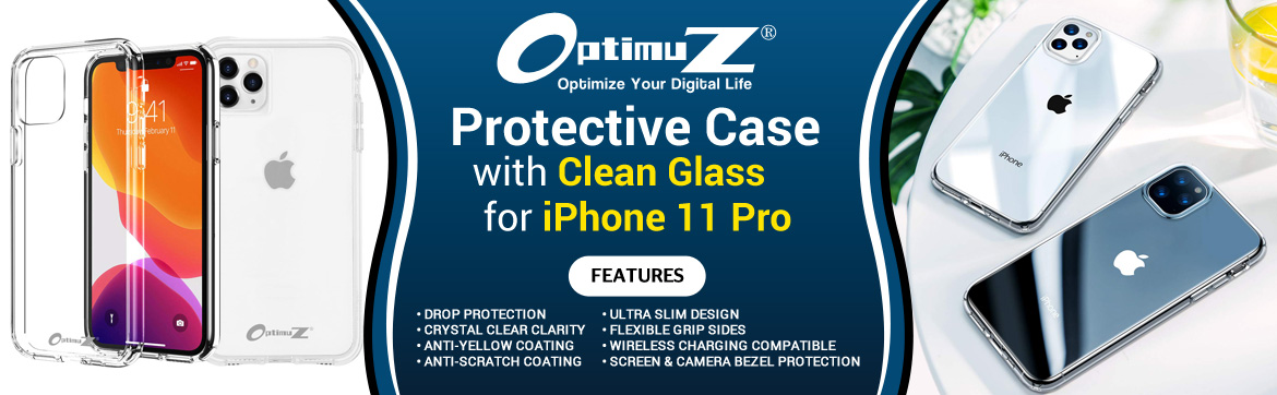 Case iPhone 11 PRO Clean Glass Banner