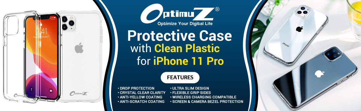 Case iPhone 11 PRO Clean Plastic Banner