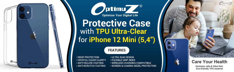OptimuZ Case Transparan TPU iPhone 12 Mini