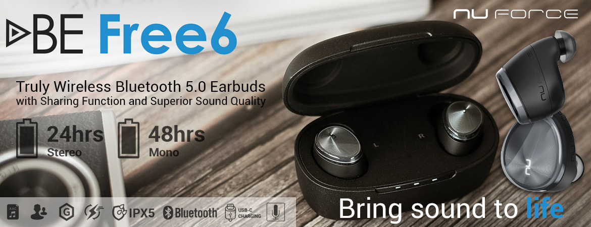 Optoma NuForce BE Free6 Premium true wireless Bluetooth