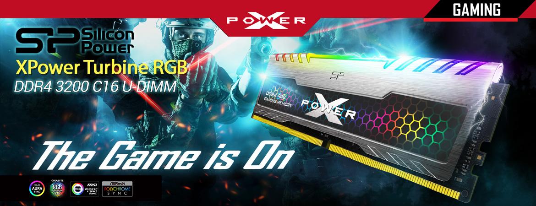 Silicon Power DDR4 3200 C16 UDIMM - XPower Turbine RGB Gaming