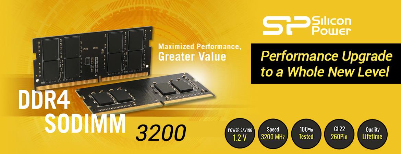 Silicon Power DDR4 3200MHz CL22 SODIMM RAM Laptop - 8GB-32GB