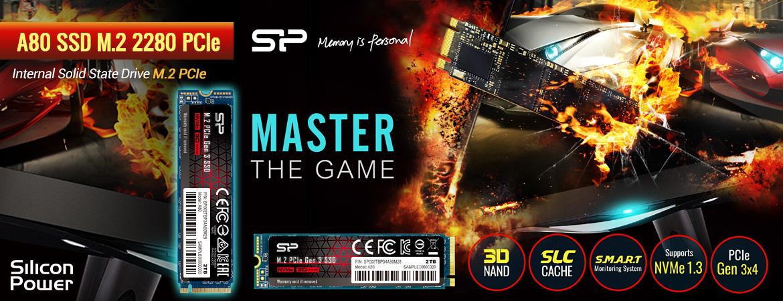 Silicon Power A80 SSD M.2 2280 PCIe Gen3x4 NVMe1.3 – 256GB-2TB