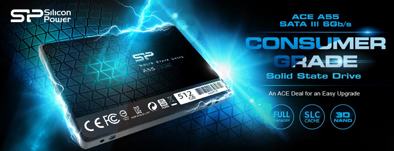 "Silicon Power Ace A55 SSD 2.5"" SATA III 3D TLC"