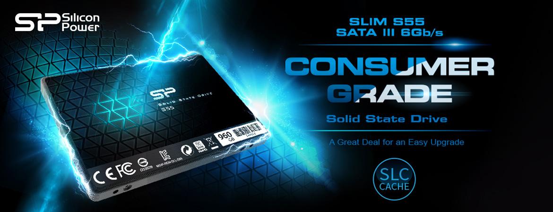 "Silicon Power Slim S55 SSD 2.5"" SATA III 3D TLC"