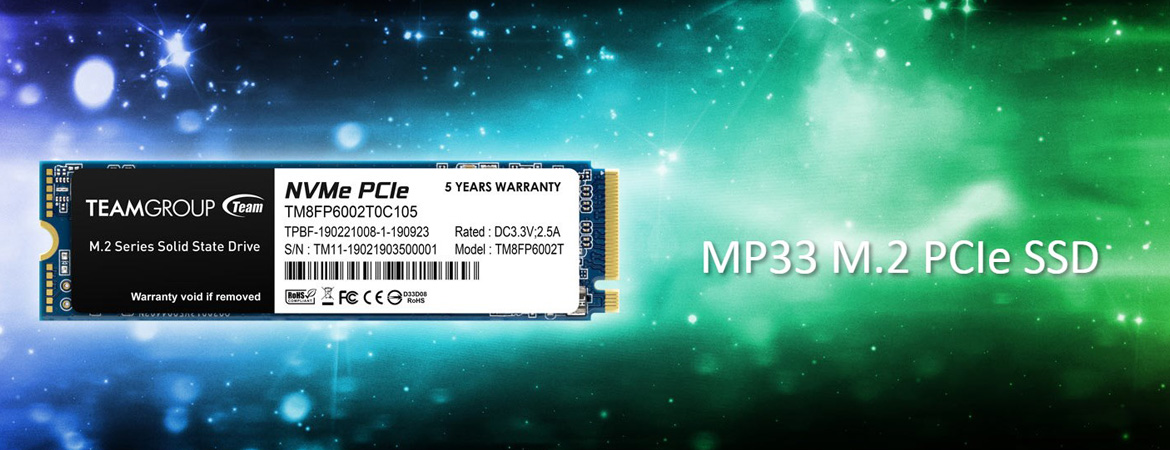 Team Group SSD MP33 M.2 PCIe Gen3x4 Solid State Drive