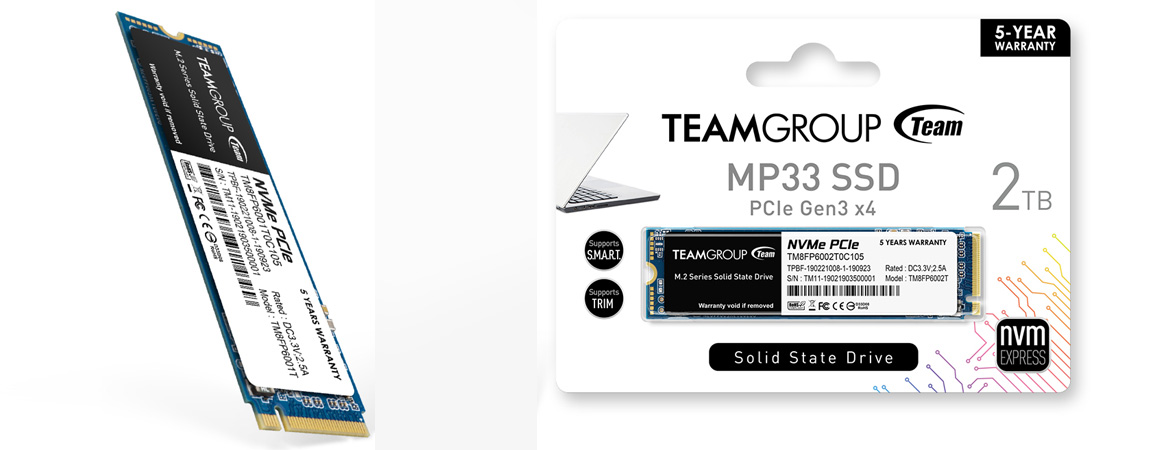 Spesifikasi TEAM SSD MP33 M,2 PCIe