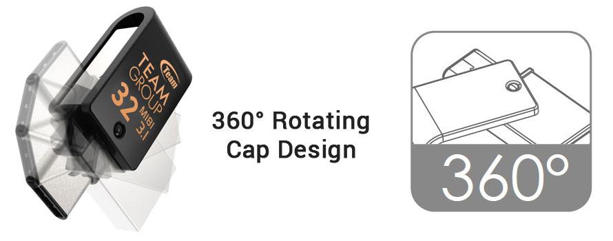 Desain Tutup dapat Berputar 360°