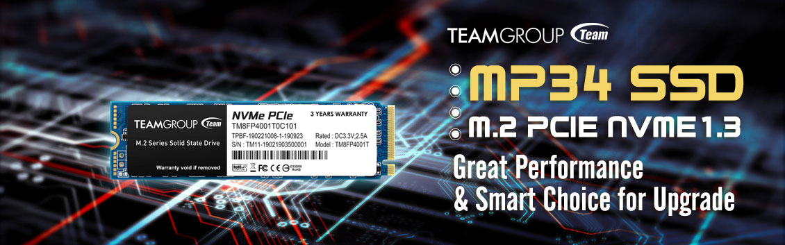 Team Group SSD MP34 M.2 2280 PCIe Gen3x4 NVMe 1.3