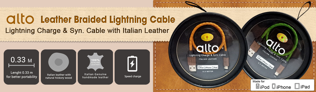 Banner Produk Alto Lightning Cable Braided Leather