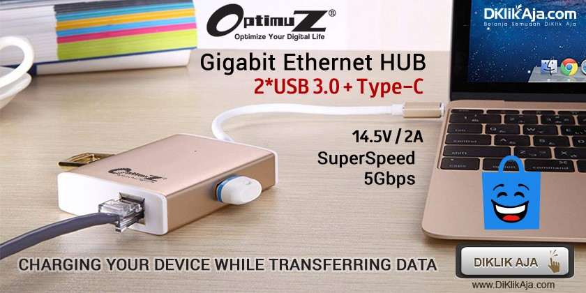 Review Produk Baru OptimuZ USB HUB Gigabit Ethernet Port