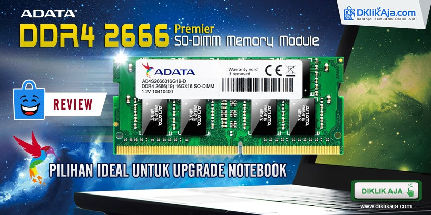 Review RAM Laptop DDR4 2666MHz SO-DIMM dari ADATA