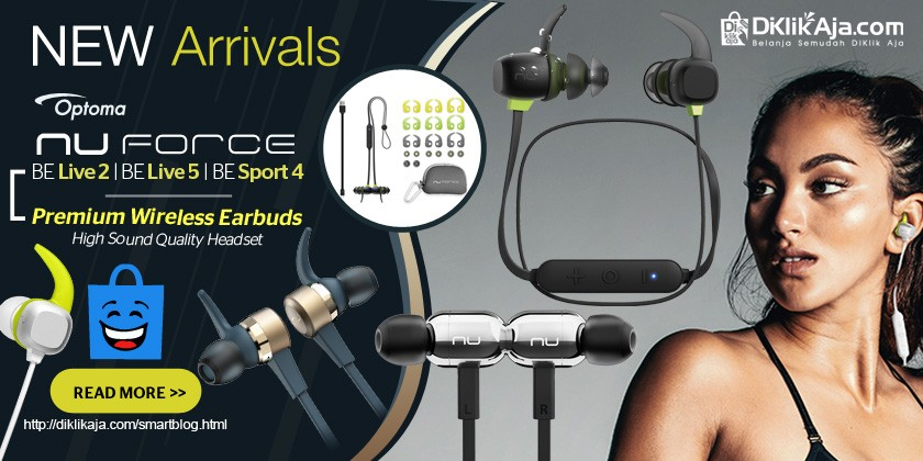 New Arrivals - Optoma NuForce Earphone Wireless Headset Premium (BE Live2, BE Live5, BE Sport4)