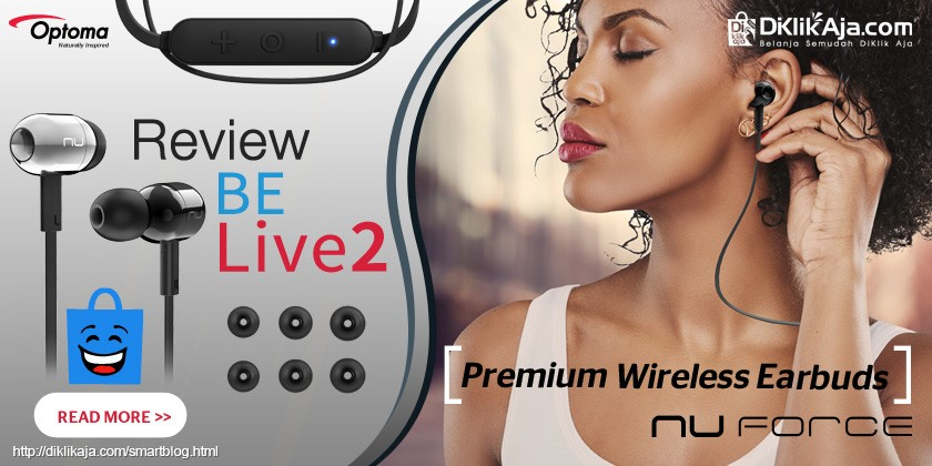 Review Optoma NuForce BE Live2 Headset Earphone Wireless Premium
